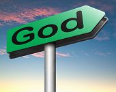 stock photo of god  - God and salvation search road to heaven religion god belief and praise the lord  - JPG