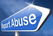 foto of child abuse  - Report abuse road sign - JPG