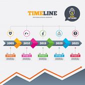 picture of shield-bug  - Timeline infographic with arrows - JPG