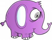 stock photo of insane  - Insane Crazy Elephant Vector Illustration Art - JPG