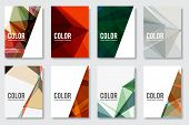 image of brochure  - Set of Abstract Flyer Geometric Triangular Abstract Modern Backgrounds  - JPG