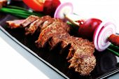 foto of spit-roast  - meat savory  - JPG