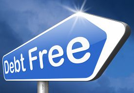 foto of debt free  - debt free zone or tax reduction today relief of taxes having good credit financial success paying debts for financial freedom road sign arrow  - JPG