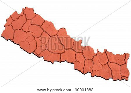 Nepal Map Three Dimensional,landslides, Earthquakes