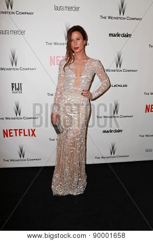 LOS ANGELES - JAN 11:  Rhona Mitra at the The Weinstein Company / Netflix Golden Globes After Party at a Beverly Hilton Adjacent on January 11, 2015 in Beverly Hills, CA