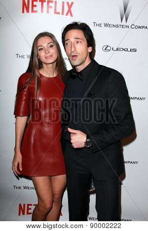 LOS ANGELES - JAN 11:  Adrien Brody at the The Weinstein Company / Netflix Golden Globes After Party at a Beverly Hilton Adjacent on January 11, 2015 in Beverly Hills, CA