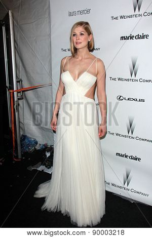 LOS ANGELES - JAN 11:  Rosamund Pike at the The Weinstein Company / Netflix Golden Globes After Party at a Beverly Hilton Adjacent on January 11, 2015 in Beverly Hills, CA