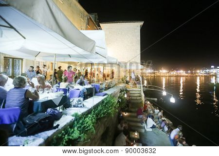 Restaurant By Sea In Rovinj