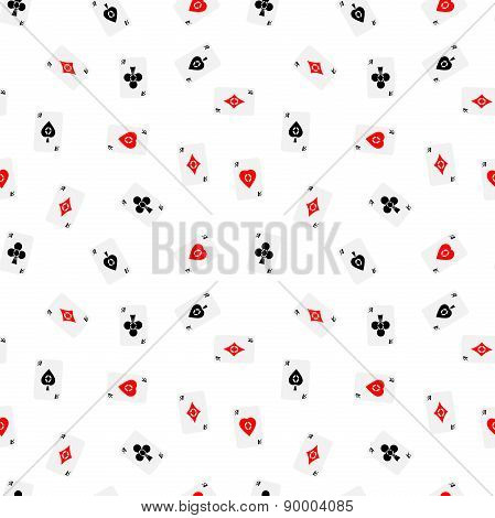 Seamless Pattern Of Aces