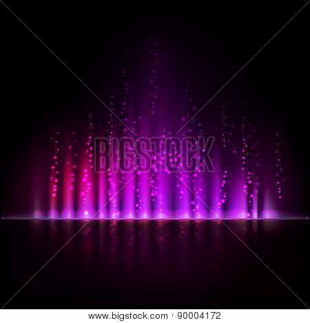 Violet aurora light. Abstract vector backgrounds