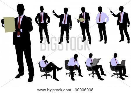 10 high quality businessman silhouette