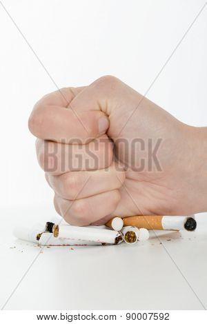 Slashing cigarettes