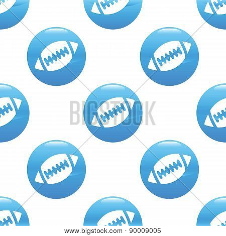 Rugby ball sign pattern