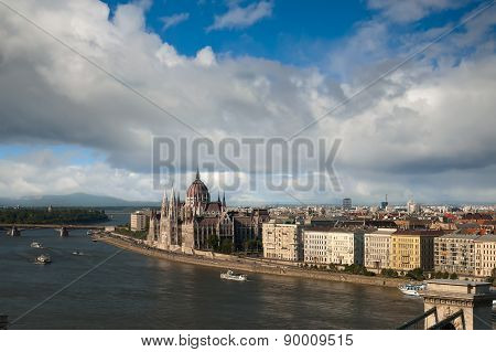 Budapest view from Gellert hill, Hungary
