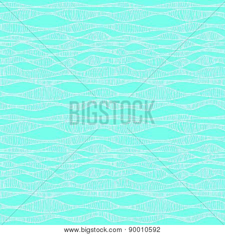 Seamless Abstract Background Of Wavy Lines.