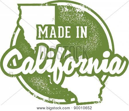 Made in California USA Stamp