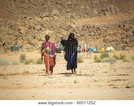 women of the tribe of Tuareg