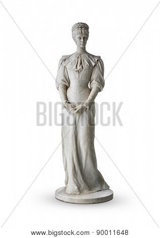 Isolated statue of Empress Elisabeth II from Austria in Corfu at the Achilleion
