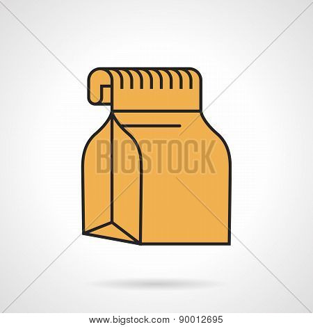 Food pack flat vector icon