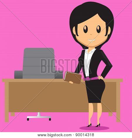 Office Lady In Office