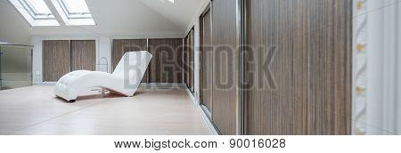 Spacious Interior In The Attic