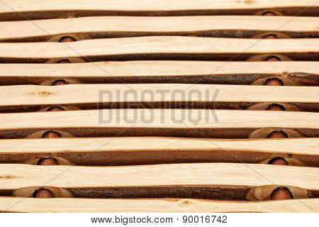 wood background abstract - trivet made of wooden sticks