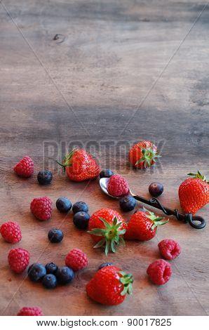 Vintage Berries Background