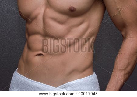 Male Abs Closeup