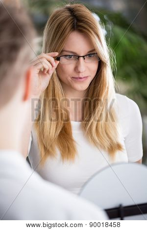 Looking At Mirror
