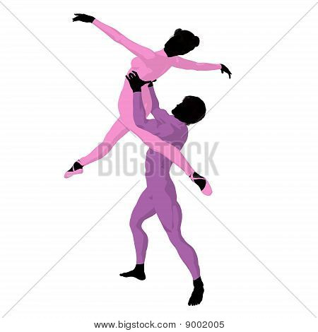 Ballet Couple Illustration Silhouette