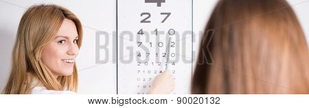 Ophthalmic Optician And Snellen Chart