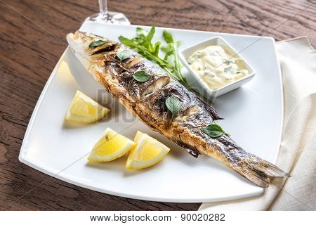 Grilled Seabass On The Plate
