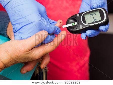 Elderly Patient's Blood Sugar Level