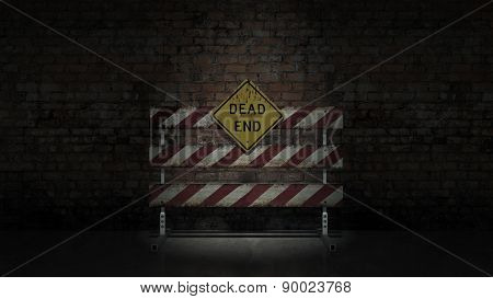 Dead end sign could represent various jobs or relationships