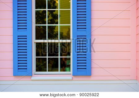 Window With Open Blinds