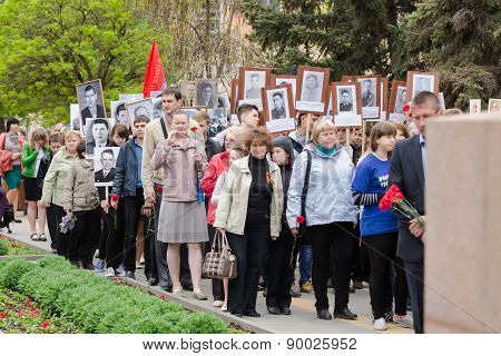 Immortal Regiment March The Monument To Fallen Wars