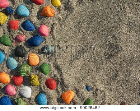 Abstract With Sand And Shells
