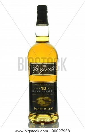 The Speyside whisky isolated on white