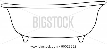 Close up plain design of single bathtub