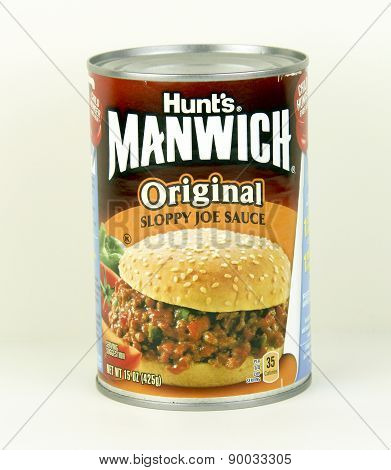 Can Of Hunt's Manwhich Sloppy Joe Sauce