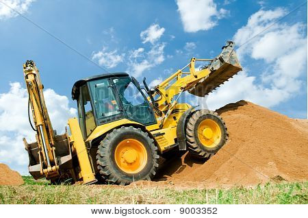 Excavator Loader With Backhoe Works