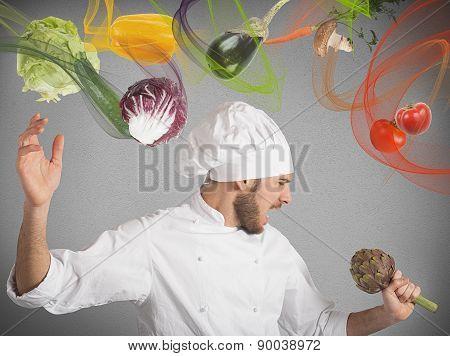 Chef sings