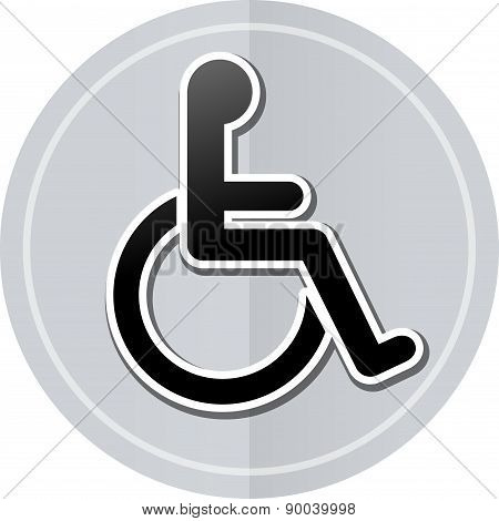 Wheelchair Sticker Icon