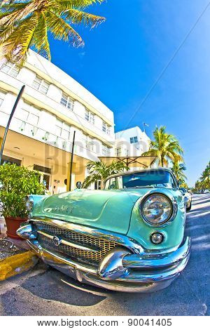 The Old Buick From 1954 Stands As Attraction In Front Of Famous Avalon Hotel