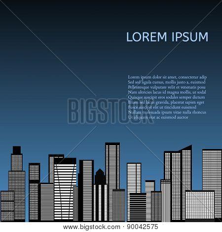 Abstract Skyline City. Vector
