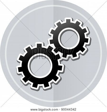 Gears Sticker Icon