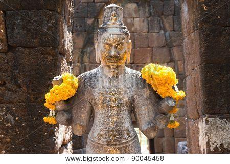 Bodhisattva in castle rock,