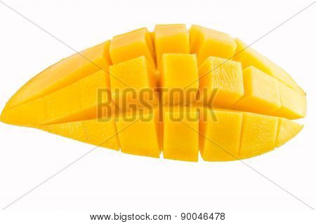 Yellow Mango Isolated On White Background