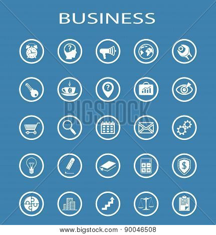 Vector Business Line Icons.