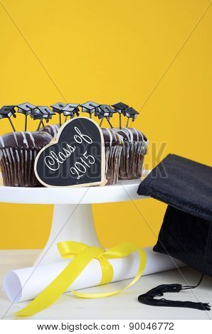 Happy Graduation Day Party Chocolate Cupcakes
